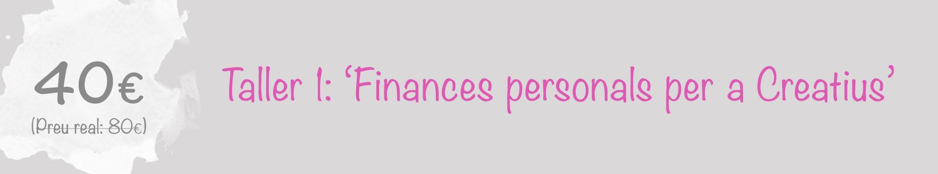 Taller finances personal creatius